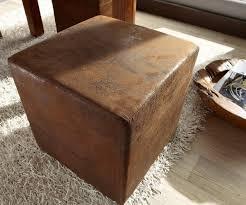 Esszimmerst Le Antik Leder Sitzhocker Dado Braun 45x45 Cm Antik Optik Möbel Stühle Sitzhocker
