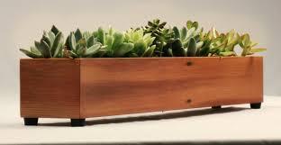 kitchen herb window planter box wooden trough metal plant pots