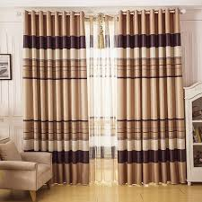 Contemporary Blackout Curtains Brown Curtains Contemporary Blackout And Sound Absorption Brown
