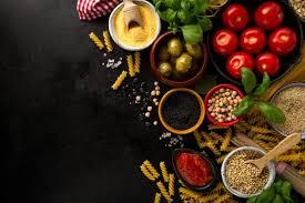 la cuisine des italiens contexte alimentaire concept alimentaire avec divers ingrédients