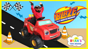 monster trucks videos on youtube power wheels ride on car and truck for kids 6v blaze and the