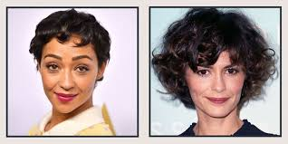 same haircut straight and curly 19 celebrity short curly hair ideas short haircuts and