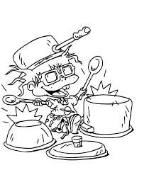 chucky coloring page chuckie is on drums coloring page free printable