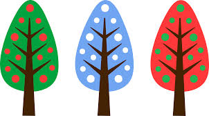 simple christmas tree machine applique design in 4 sizes must