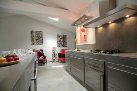 beton ciré mur cuisine béton ciré maçonnerie martine ozeville manche evier en