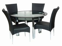 Circular Glass Dining Table And Chairs Awesome Modern Round Glass Dining Table New Table Ideas Table