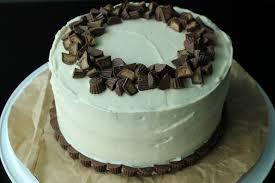 peanut butter cake with chocolate peanut butter filling u0026 cream