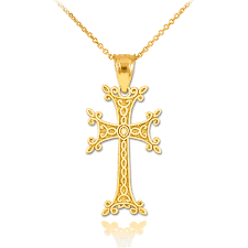 cross golden necklace images Gold armenian cross pendant necklace armenian cross jpg