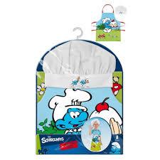 tablier et toque de cuisine schtroumpfs tablier et toque de cuisine pour enfants 3 8 ans
