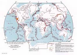 World Map With Equator Global Tectonic And Volcanic Activity Of The Last One Million Years
