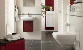 Gray And Red Bathroom Ideas - red and white bathroom decor mosaic floor tile uncommon
