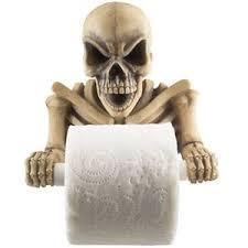 skull toilet paper holder halloween bathroom accessories decor