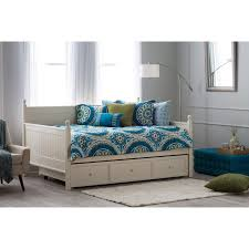 Full Size Beds With Trundle Bedroom White Full Size Daybed With Trundle With Rug And Wooden