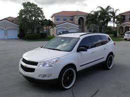2014 chevy traverse white black rims google search vehicles