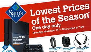 best black friday ps4 deals deals in sam u0027s club holiday savings celebration november 14 sale