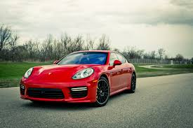 red porsche black wheels 2014 porsche panamera turbo around the block