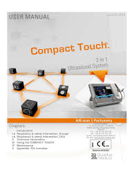 quantel medical compact touch manual ultrasound waste