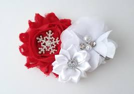 christmas hair bows hair clip snowflake hair clip christmas hair bow lolibean
