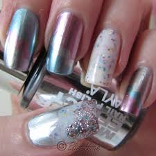 princessly polished layla mirror effect polish in a cloud manicure