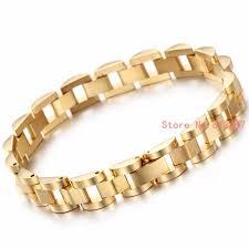 bracelet designs images Classic style really gold 316l stainless steel bracelets men watch jpg