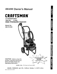 craftsman high pressure washer 580 76225 operating instructions