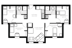 Split Two Bedroom Layout Hercules And Nike Housing And Residence Life Ucf