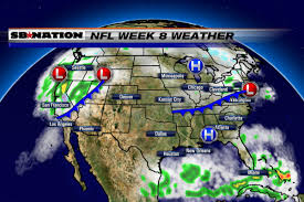 Weather Map Chicago by 2016 Nfl Weather Forecast Week 8 Another Quiet Sunday For Most