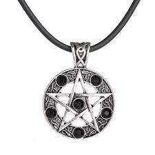 black gem necklace images Pentagram star pendant black gem obscure city jpg