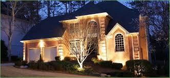 lighting install flood lights around house christmas flood