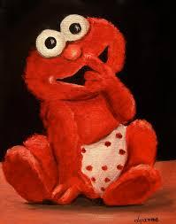 Elmo Portrait Painting By Dyanne