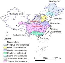 Yellow River China Map by Water Policy