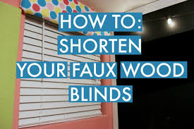 how to shorten blinds faux wood blinds youtube