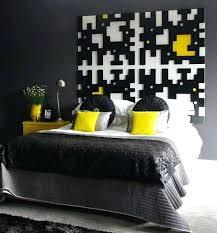 deco chambre gris et jaune deco jaune et noir deco chambre noir et jaune visuel 1 deco chambre