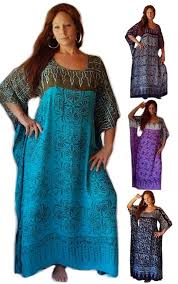 batik chic funky butterfly caftan dress with belt
