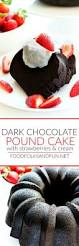dark chocolate pound cake with strawberries and cream u2022 food