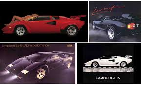cartoon lamborghini top ten lamborghini countachs retromash