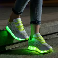 shoes that light up on the bottom nike kids nike light up shoes green
