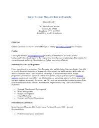 28 sample resume for senior accounting manager senior
