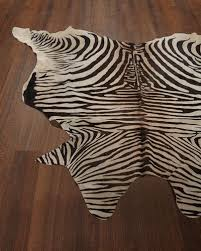 Zebra Kitchen Rug Animal Rugs Cowhide U0026 Zebra Rugs At Neiman Marcus Horchow