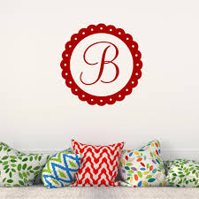 popular monogram stickers buy cheap monogram stickers lots from personalized name initial with flower circle wall decal customized letter monogram stamp vinyl wall sticker