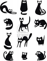 varias siluetas de gatos almohadones pinterest cat