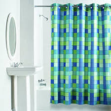 No Liner Shower Curtain Hookless Rbh40wm04f Checkmate Fabric Curtain No Liner