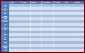 20 excel weekly timetable template sendletters info