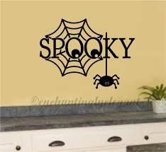 spooky spider web vinyl decal wall sticker fall halloween decor spooky spider web vinyl decal wall sticker fall halloween decor art