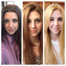 How Do Tape In Hair Extensions Work by Before After Then Later Brown Caramel Blonde Hair Color My Work