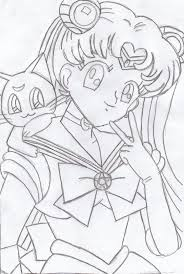 sailor moon and luna sketch by wii guy12 on deviantart