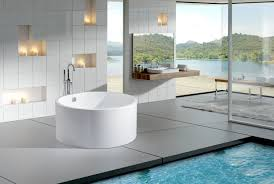 modern soaking tub best freestanding soaker tub on bathroom with