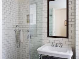 bathroom a wet room wet room black and white bathroom subway tile