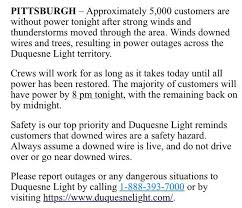 Duquesne Light Power Outage Wtae Staff Tweets Page 293