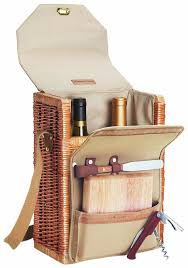 wine and cheese basket picnic time corsica insulated wine basket with wine